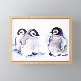 Penguins, penguin design baby penguin art, children gift Framed Mini Art Print
