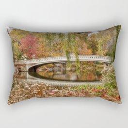 Bow Bridge in Autumn Rectangular Pillow