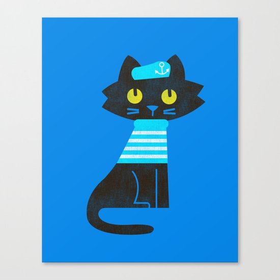 Fitz - Sailor cat Canvas Print