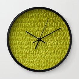 Yellow Bubble Row Textile Photo Art Wall Clock