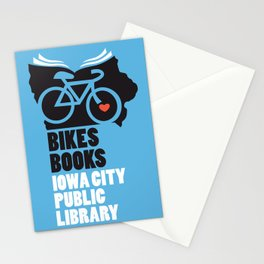 Bikes Books Iowa City Public Library Stationery Cards