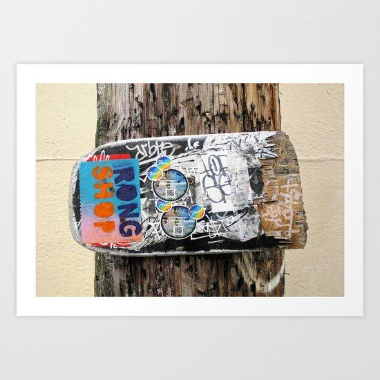 Skateboard Street Art  Art Print