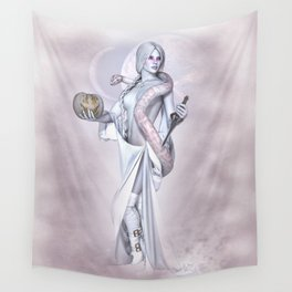 Lady Halloween Wall Tapestry
