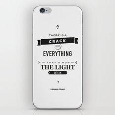 Leonard Cohen, Motivational Quote iPhone & iPod Skin