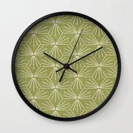 SUN TILE GREEN Wall Clock