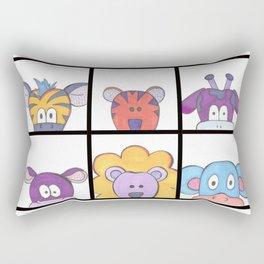 Colorful Cartoon Animals Rectangular Pillow