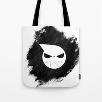 soul eater Tote Bags featuring Soul Eater by Bradley Bailey
