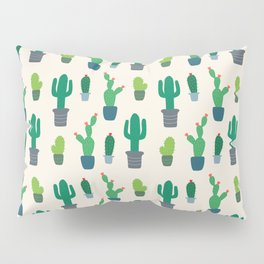 Desert Cactus Love Pattern Pillow Sham