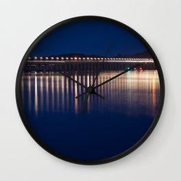 The River Tay at night Dundee Wall Clock