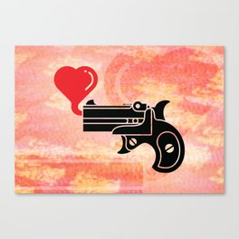 Pistol Blowing Bubbles of Love Canvas Print