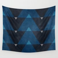 greece Wall Tapestries featuring Greece Arrow Hues by Diego Tirigall