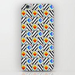 symetric tartan and gingham 18 -vichy, gingham,strip,square,geometric, sober,tartan iPhone Skin