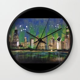 Chicago Night Wall Clock
