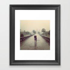 Under the small umbrella Framed Art Print