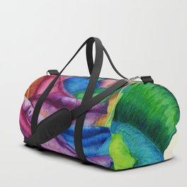 Open Up (Rainbow Rose) Duffle Bag