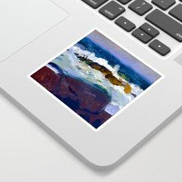 George Bellows Rock Reef in Maine Sticker