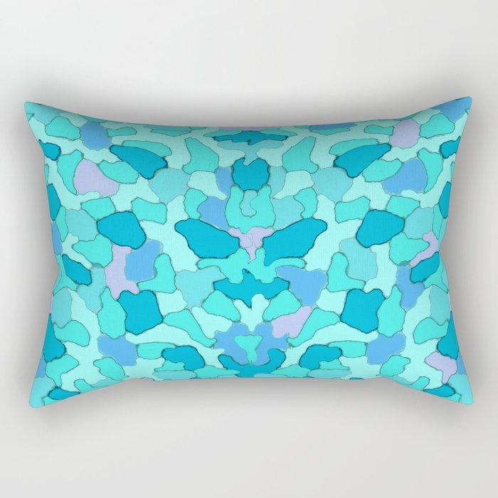 Camo Aqua Rectangular Pillow