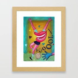 Gol y corazones 2 Framed Art Print