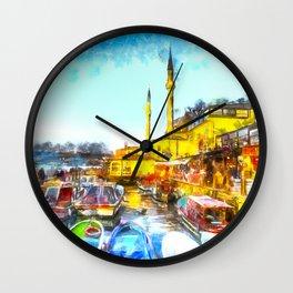 Istanbul Art Wall Clock