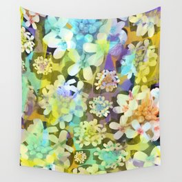 White Blooms from the Forest Floor Wall Tapestry