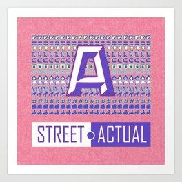 Street Actual Art Print