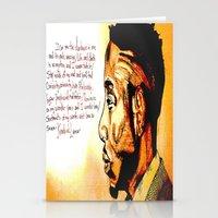 kendrick lamar Stationery Cards featuring Kendrick Lamar by Monroe the artist