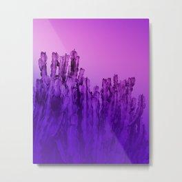 Cactus UltraViolet Metal Print