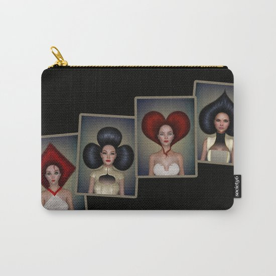 Playing cards queens quartett Carry-All Pouch