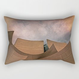 Architectural abstract of the home of the LA Philharmonic. Architect: Frank Gehry Rectangular Pillow