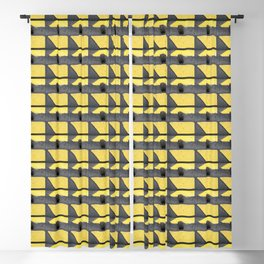 Yellow Quadrangles Blackout Curtain