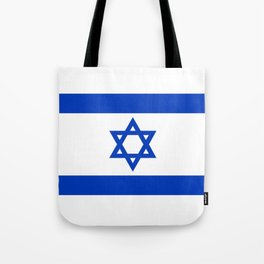 Flag of the State of Israel - High Quality Image Tote Bag