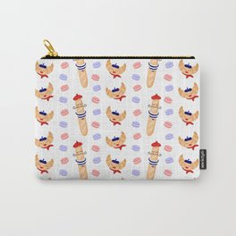 Madame Croissant and Monsieur Baguette Carry-All Pouch