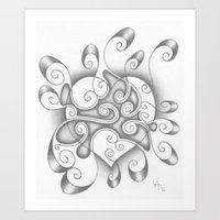 Art Print featuring Knot Heart by C. Dunning