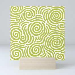 Ripple Effect Pattern Chartreuse Mini Art Print
