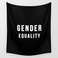 equality Wall Tapestries featuring Gender Equality by worksbeautifully
