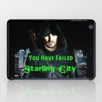 green arrow iPad Cases featuring Arrow by SwanniePhotoArt