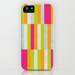 Stripes - Spring Neon Colors iPhone Case