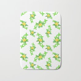 Airy Floral Pattern Bath Mat