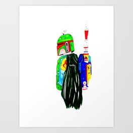 Profile  a Bounty Hunter Art Print