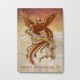 Phoenix Independence Metal Print