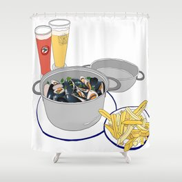 Mussels from Brussels Shower Curtain