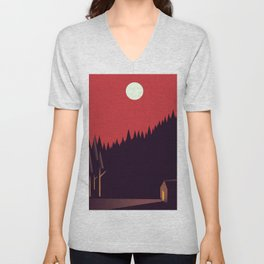 A Cabin in the Wood Unisex V-Neck