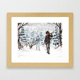 Under the Dead Skies - Snow Framed Art Print