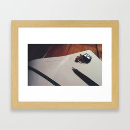 SPACE IS A BLANK PAGE WAITING TO BE FILLED Framed Art Print