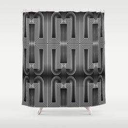 Art Deco 32 . Graffiti black and white Shower Curtain