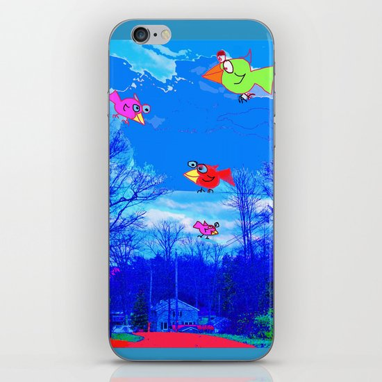 Happy Bird Day! iPhone & iPod Skin