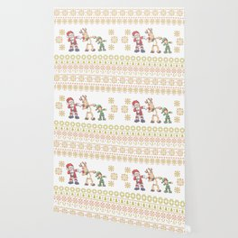 Dabbing Santa Ugly Christmas Shirt Dabbing Reindeer Elf Wallpaper