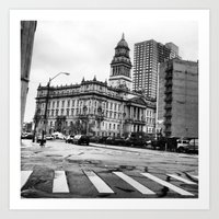 detroit Art Prints featuring Detroit by Christina Fehan