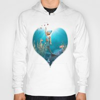 little mermaid Hoodies featuring Little Mermaid by Simone Gatterwe