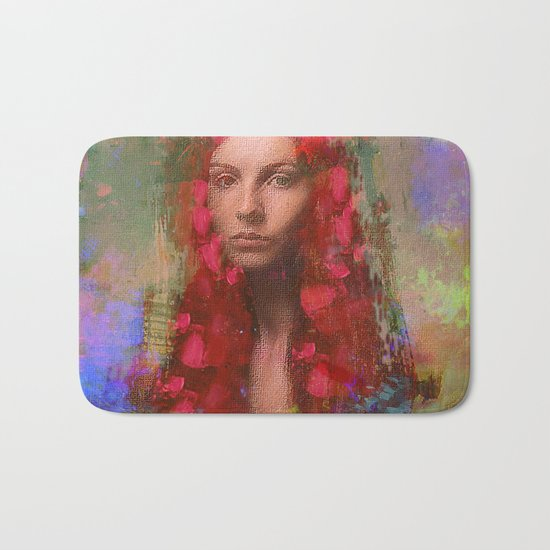 petals Lady Bath Mat